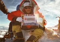 Over 8,000 meters up Mount Everest
