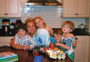 Nanci Shipman and her children when they were younger