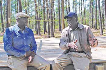 John Wright (left) with Richard Habersham