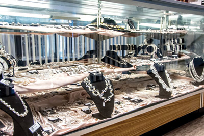 Jean's Bridal offers jewelry, hair accessories, shoes, purses, and more.