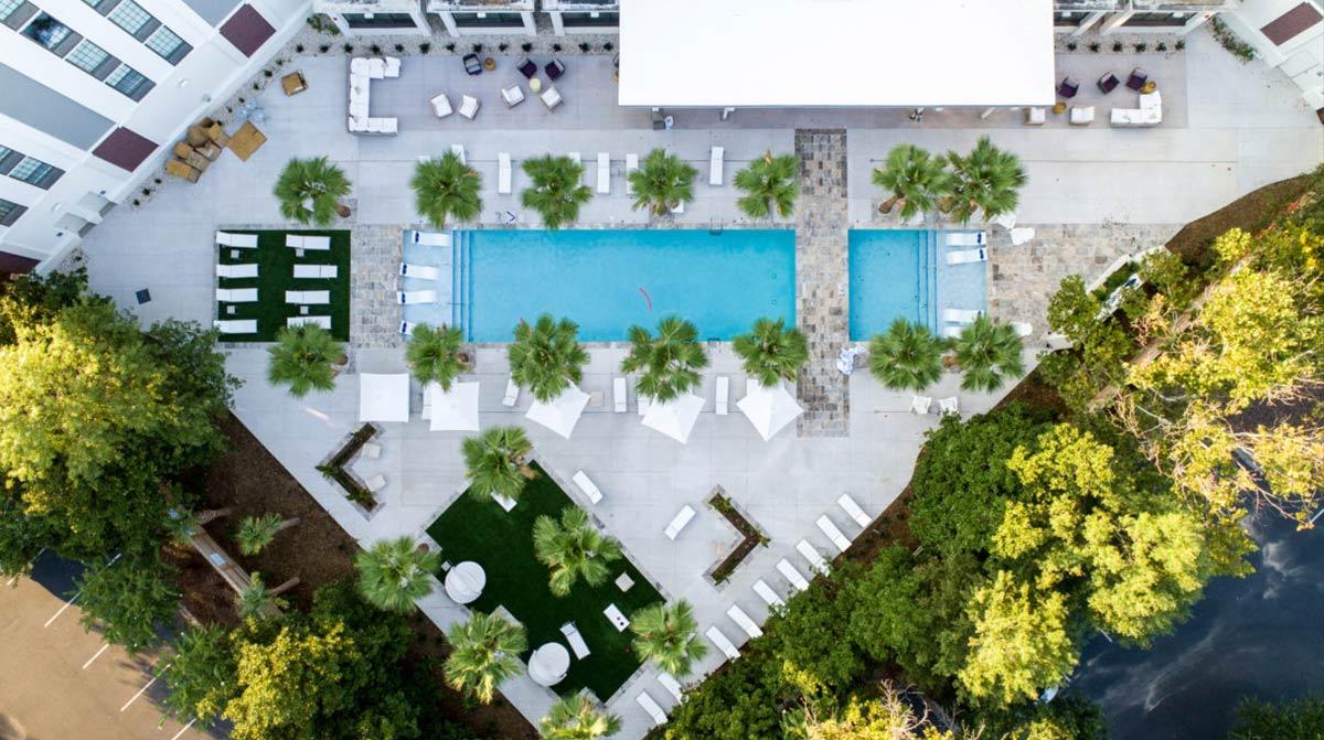 Mount Pleasant's Hotel Indigo, located near the base of the Ravenel Bridge,
