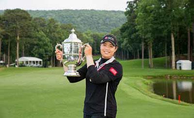 Ariya Jutanugarn, 2018 U.S. Women's Open winner at Shoal Creek in Shoal Creek, Alabama. Copyright USGA/Darren Carroll.