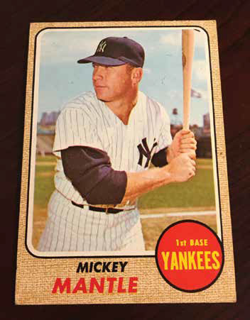Mickey Mantle's final baseball card