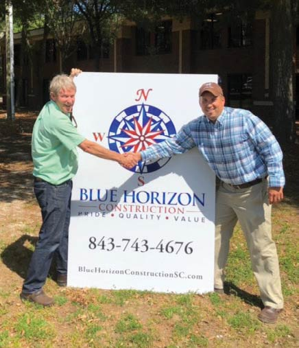 Chris Cochran, left, and Rusty Holt, co-owners of Blue Horizon Construction.