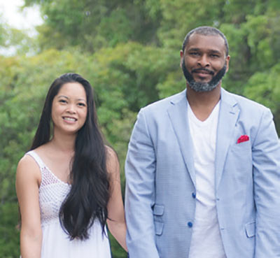Dr. Rahn Ravenell and his wife, Dr. Tamika Ravenell of Coastal Podiatry