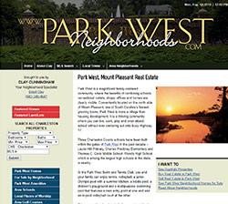 Park West homes neighborhood website