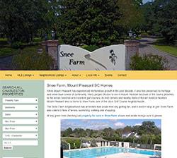 Snee Farm Homes, Mount Pleasant website