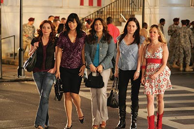 """""""Army Wives"""" cast, from left to right: Brigid Brannagh, Catherine Bell, guest-star Gina Rodriguez, Kim Delaney and Sally Pressman."""