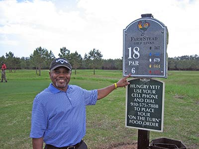 Stan Walker at a PGA HOPE event