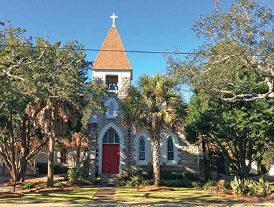 The bell at Church of the Holy Cross is said to be from a British ship that was part of the attack on Sullivan's Island.