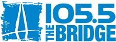 The Bridge 105.5 radio station logo
