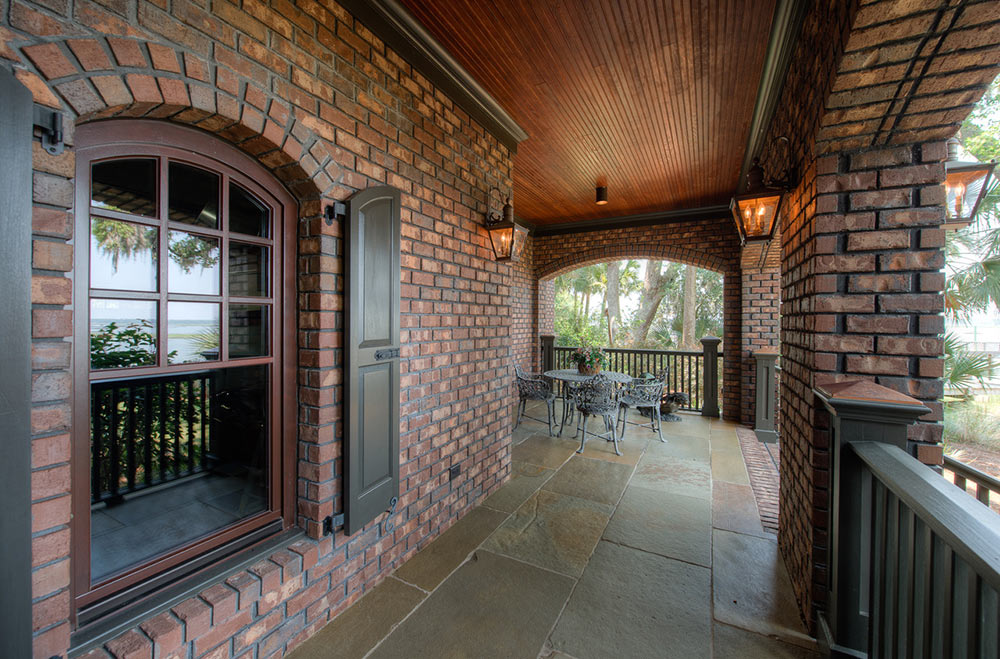 A hurricane resistant home using The Muhler Company's products to weather the storms