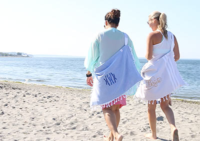 A Turkish Beachable (a beach towel, tote bag and chair cover all in one).