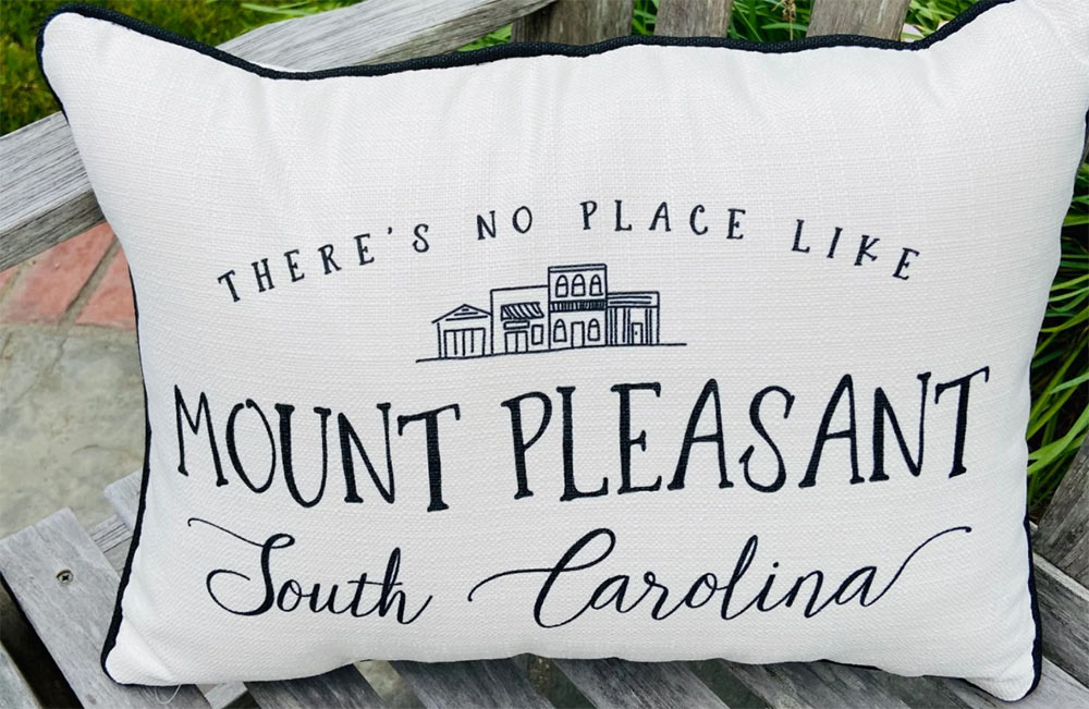 No Place Like Mount Pleasant Pillow at Zinnia in Mount Pleasant, South Carolina