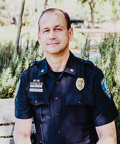 Deputy Chief of Police Mark Arnold. Photo by Hungry Ghost Photography.