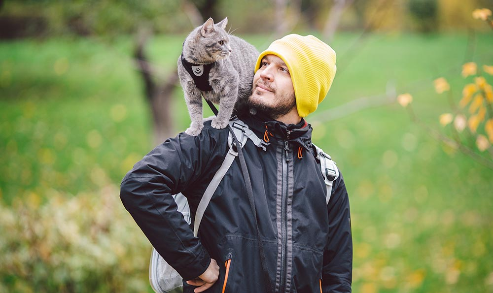 A man and his cat.