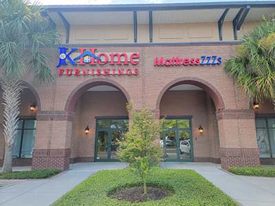 J&K Home Furnishings outside store photo in Belle Hall Shopping Center, Mount Pleasant, SC.