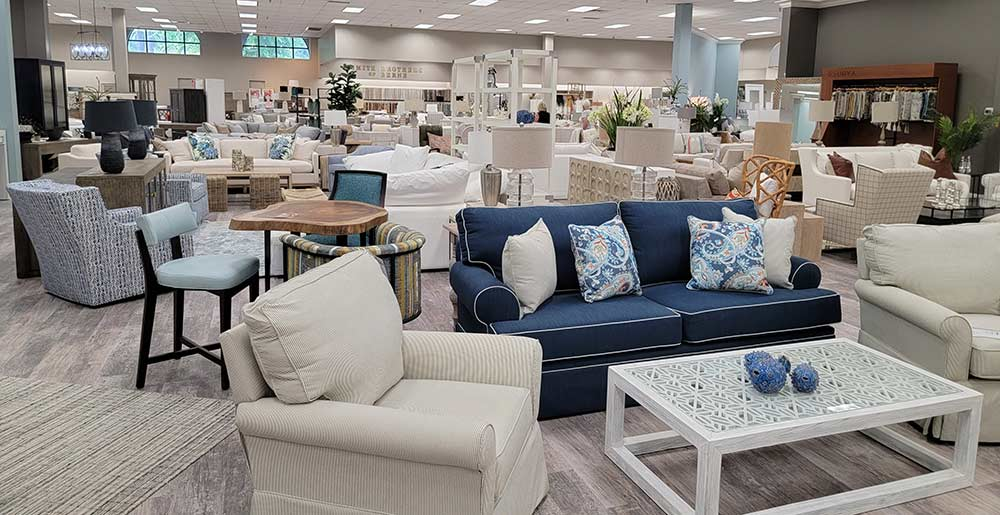 Photo of J&K Home Furnishings showroom in Mount Pleasant, South Carolina.