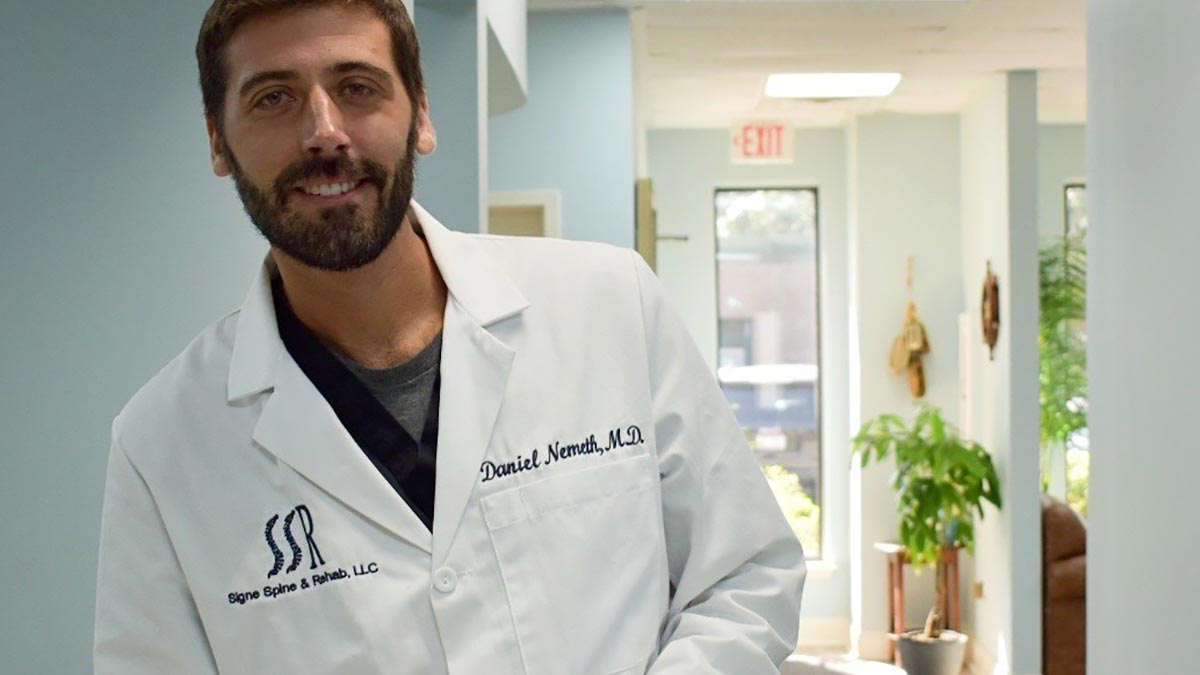 Dr. Daniel Nemeth, owner and interventional spine specialist at Signe Spine & Rehab LLC in Mount Pleasant, South Carolina.