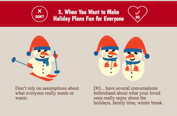 holiday stress: we don't like the same things