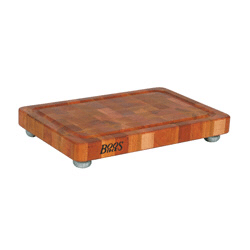 John Boos & Co. Cutting Board – Cherry Signature Board w/Stainless Steel Accents