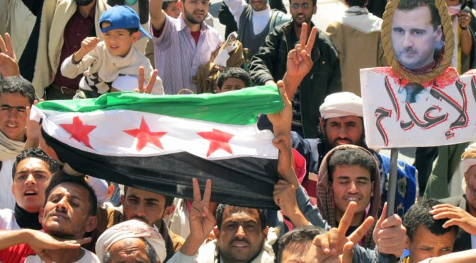anti assad protests