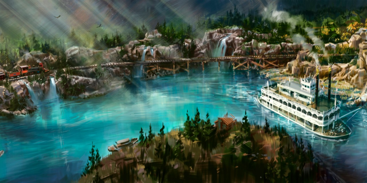 Disneyland releases art showing new look for shortened RIVERS OF AMERICA