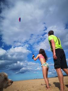 Kite Flying on Wells Beach