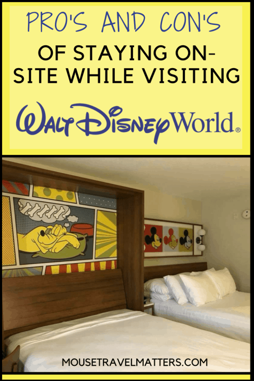 If you're wondering where to stay at Walt Disney World, this post covers the pros & cons of on-site at Disney. #disney #waltdisneyworld #disneyworld #onsitehotels #provscon