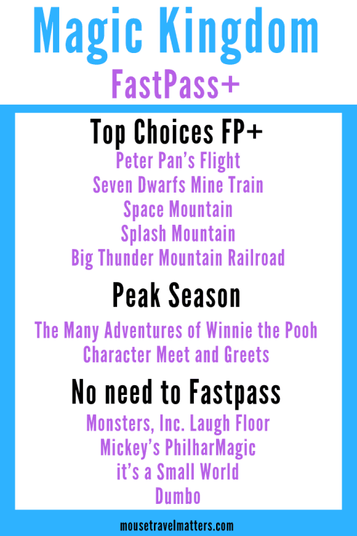 Get the most out of using Fast Pass + at The Magic Kingdom