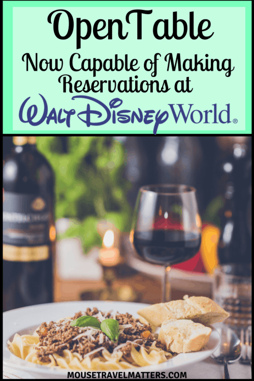 OpenTable Now Capable of Making Reservations at Select Walt Disney World Restaurants