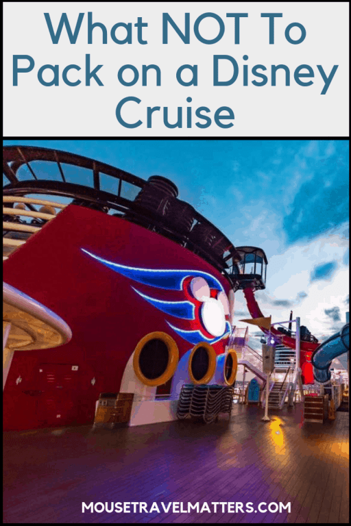 Sailing on a Disney Cruise? Here are some Disney Cruise tips which show you what you really must not pack! #Disney #DisneyCruise #DisneyCruisePlanning #DisneyCruiseTips #DisneyWonder #DisneyFantasy #DisneyCruisePacking #CruisePacking #DisneyCruiseTip #DisneyFantasy #DisneyDream #DisneyWonder #DisneyMagic