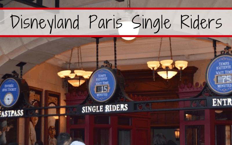 Disneyland Paris Single Riders