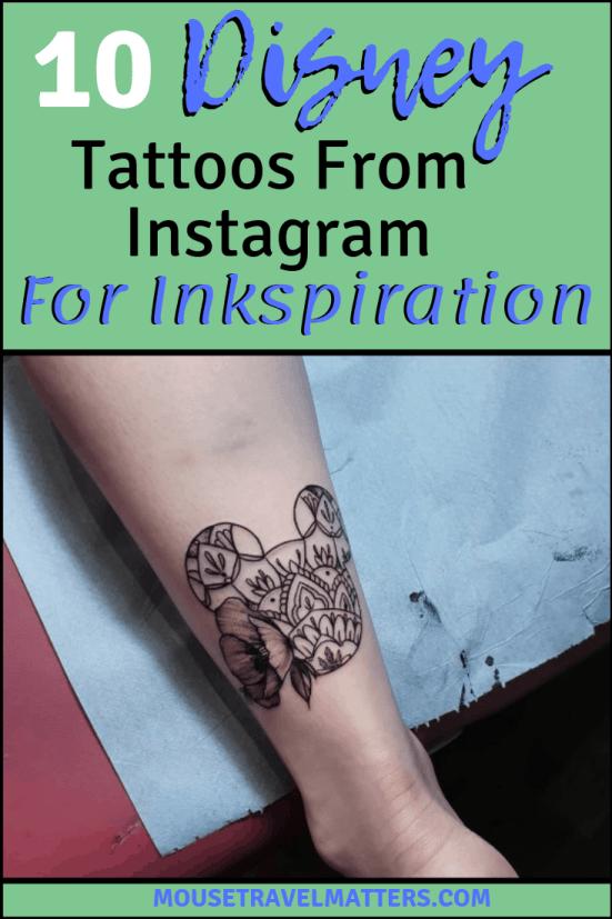 10 Disney Tattoos From Instagram For Inkspiration