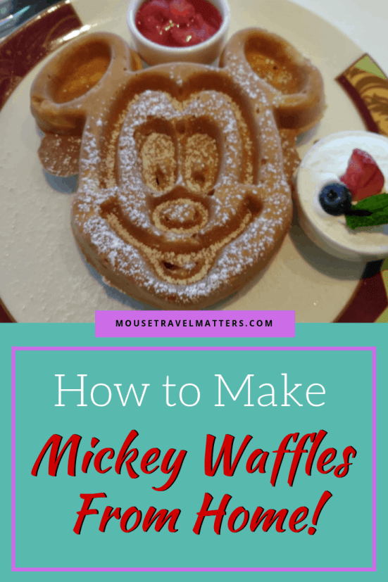 How to Make Mickey Waffles at Home