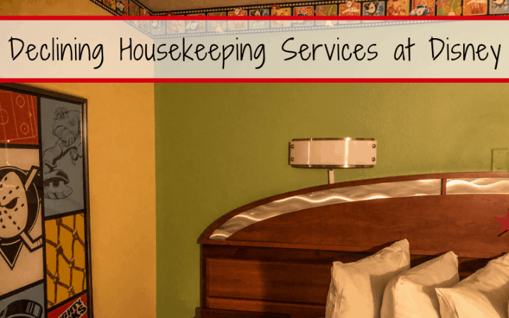 How do you get a gift card for declining housekeeping services at Disney World? (Service Your Way)