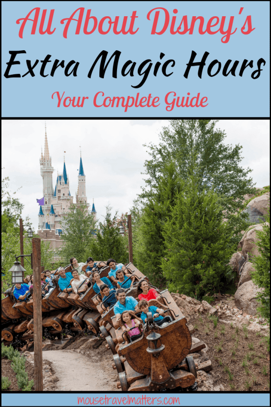 All About Extra Magic Hours at Walt Disney World
