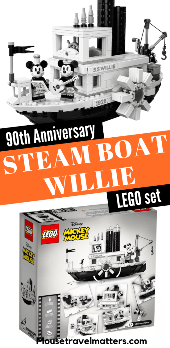 90th Anniversary Steam Boat Willie LEGO set