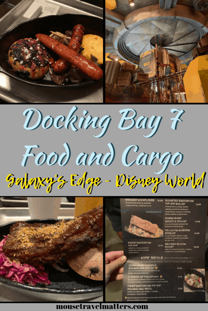 Docking Bay 7 Food and Cargo Review at Disney Hollywood Studios. Get the backstory of this fun quick service in Batuu and what I loved. #galaxysedge #disneydiningreview #disneyvacation