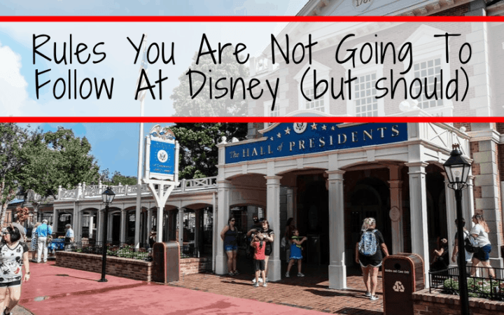 Rules You Are Not Going To Follow At Disney (but should)