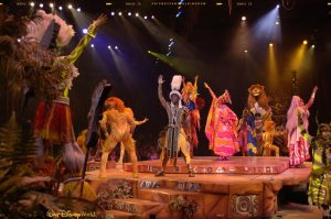 Walt Disney World offers be sure to see Festival of the Lion King at Disney's Animal Kingdom