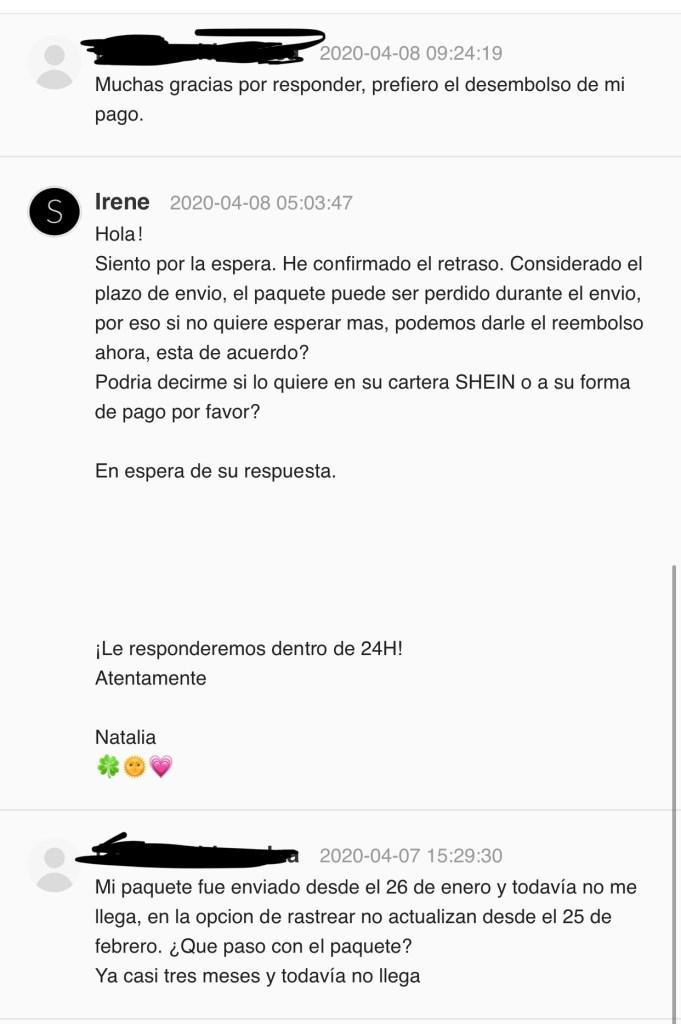 SheIn envíos a Honduras
