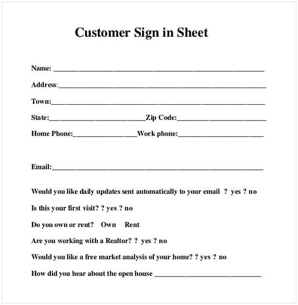 80 Free Download Sign Up Sign In Sheet Templates Mous