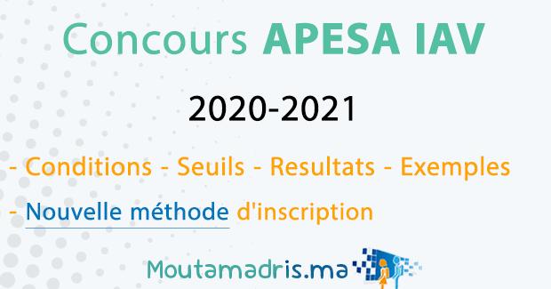 concours APESA IAV 2020 2021