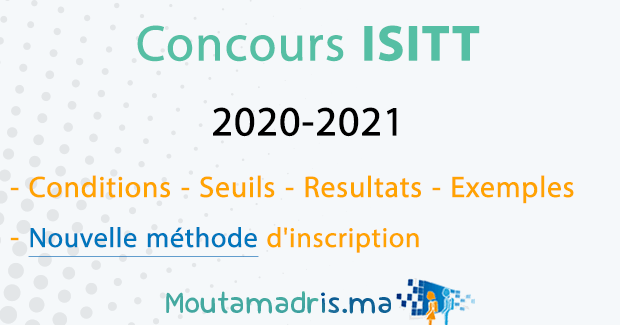 concours isitt 2020 2021