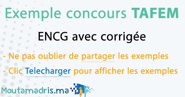PDF ENCG TÉLÉCHARGER TAFEM 2014