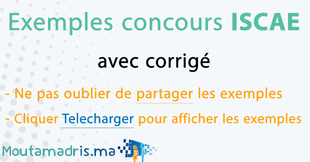 Exemple concours ISCAE
