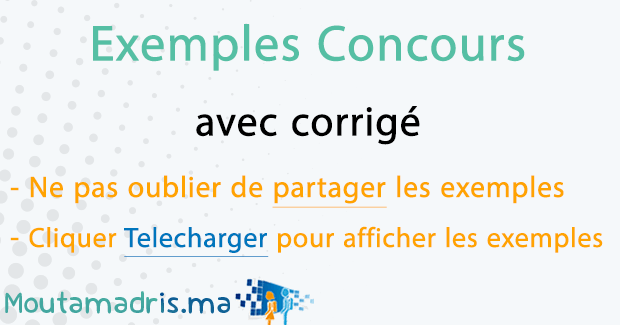 Exemple concours Maroc