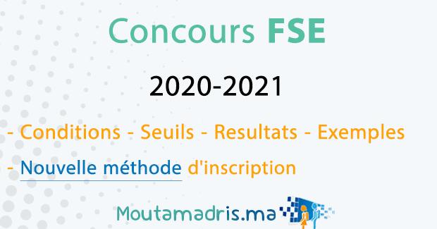 Concours FSE Rabat 2020-2021