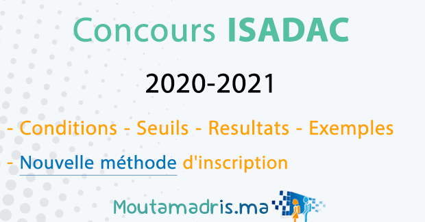 Concours ISADAC Rabat 2020-2021